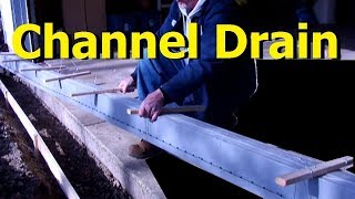 DIY Driveway CHANNEL DRAIN start to finish driveway channel drain grate systems