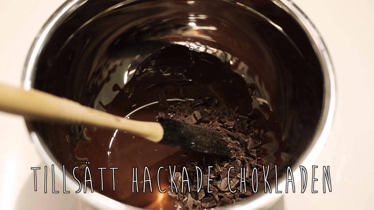 gjuta choklad i formar