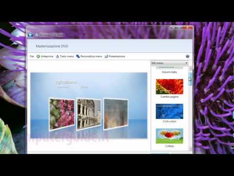 Windows 7 DVD Maker Creare Un DVD Video Tutorial Italiano Come Masterizzare Video E Foto