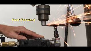 Turning down AA S510 Hammer on Red Neck Lathe