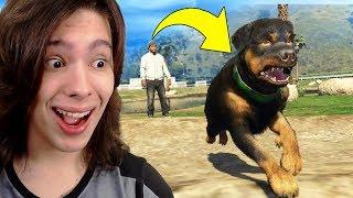 JOGANDO GTA 5 COMO UM CACHORRO (Chop) !! (Incrível)