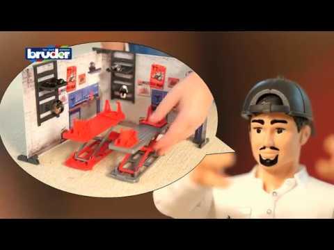 Bruder Toys Bworld Set Motorcycle Service - #62101