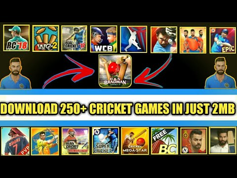 👉Download Your All Favourite 250+ Cricket Games In Just 2 MB For Android Device  👌Brand New Games