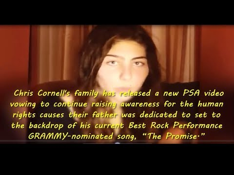 """Chris Cornell's family has released a new PSA video vowing to keep """"the promise"""""""