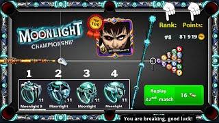 8 ball pool MoonĮight Championship Rank 8 Points 81919 😍 Last Ring From Moonlight