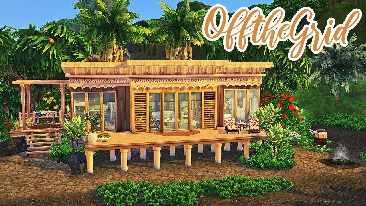 Living Off The Grid 🌱 || The Sims 4 Island Living: Speed Build