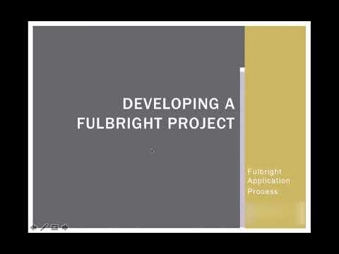Fulbright Workshop - Part 1