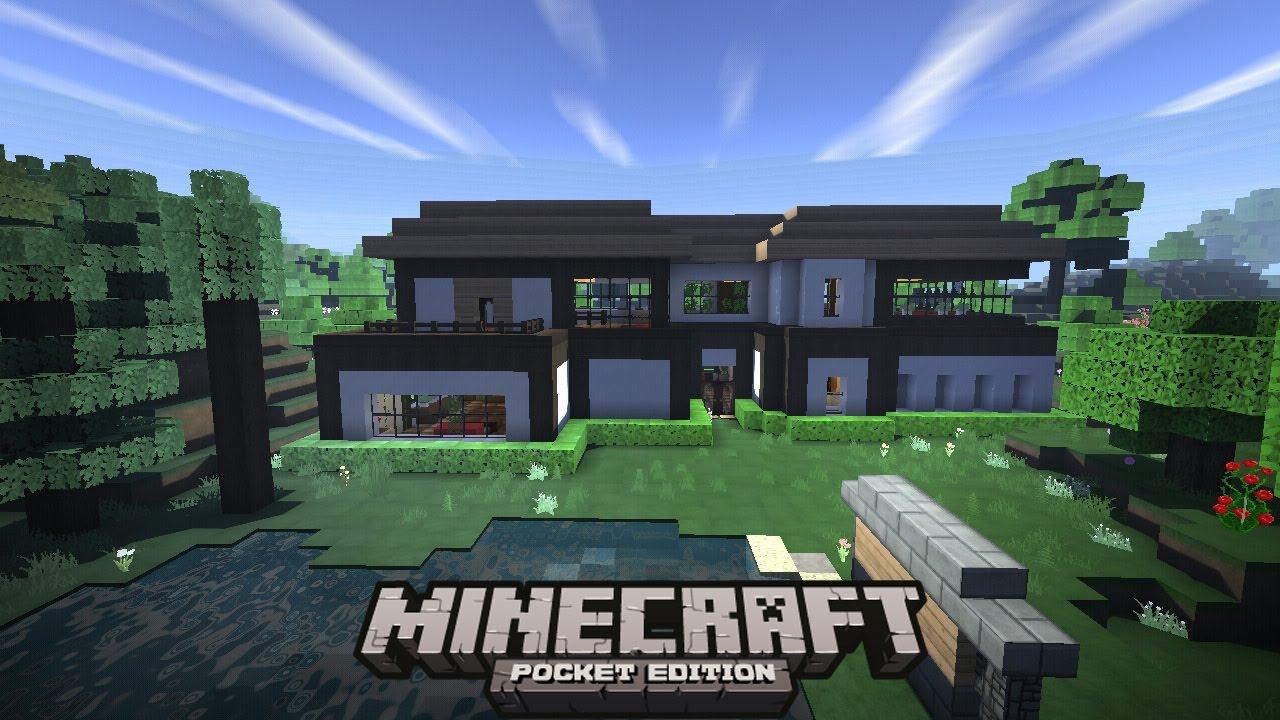 Casa moderna y funcional para minecraft pe for Casa moderna en minecraft pe 0 16 0