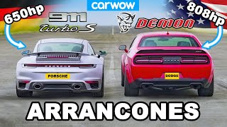 Dodge Challenger Demon v Porsche 911 Turbo S - ARRANCONES