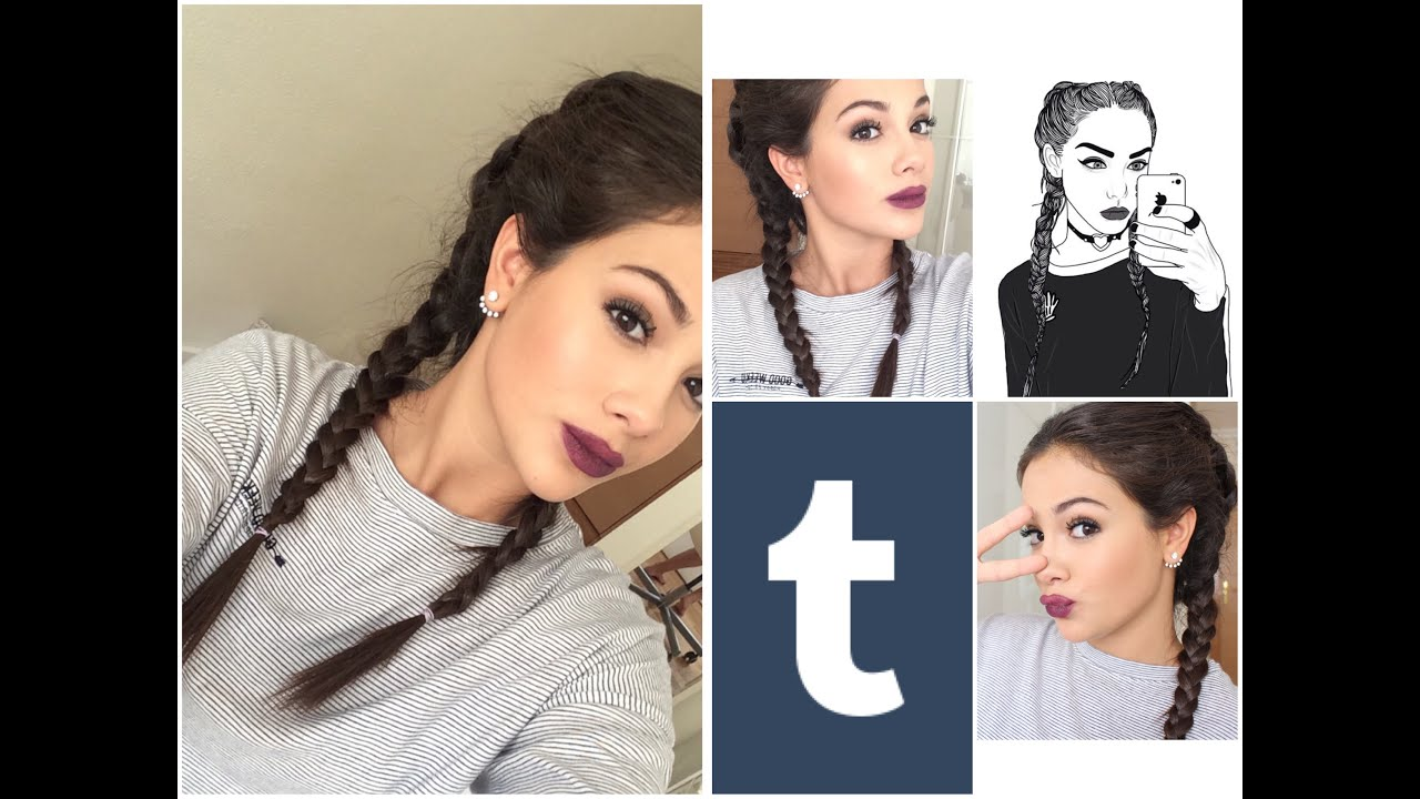 tumblr/grunge makeup tutorial | get the look | inmagomcas - youtube