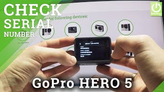 How to Check Serial Number in GoPro HERO 5 BLACK