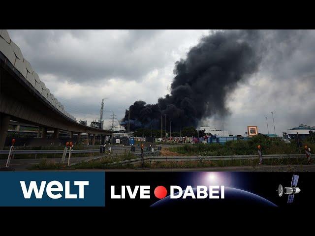 WELT LIVE DABEI: Nach gewaltiger Explosion - Briefing zur Lage in Leverkusener Chempark