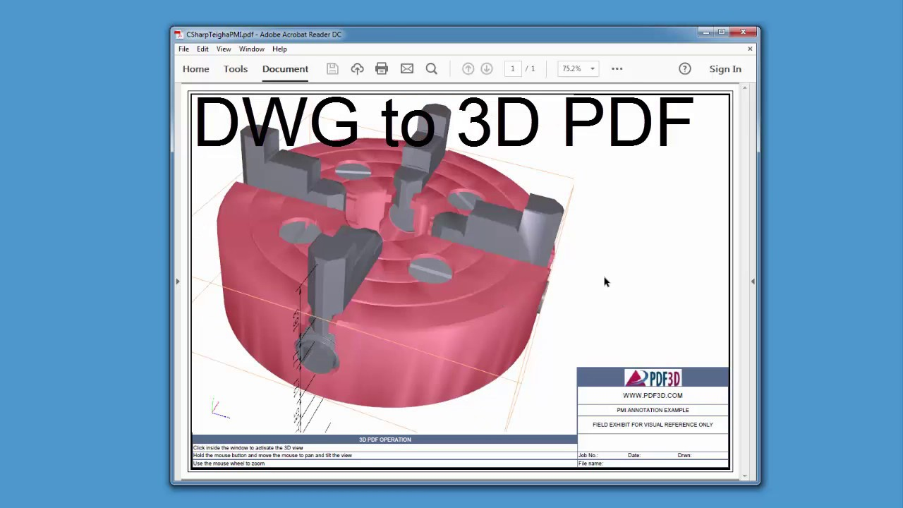 Developing a DWG to 3D PDF Converter in C#  NET