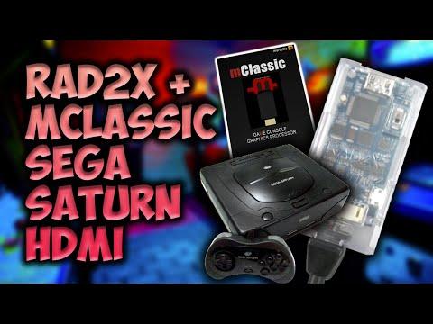 RAD2x + MClassic Sega Saturn HDMI