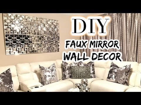 DOLLAR TREE DIY Faux Mirror | THE BEST DIY Home Decor/Wedding