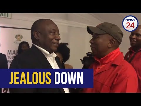 WATCH: 'Jealous down' - Cyril Ramaphosa and Julius Malema share light moment at parliament