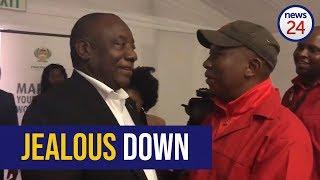 WATCH:_'Jealous_down'_-_Cyril_Ramaphosa_and_Julius_Malema_share_light_moment_at_parliament