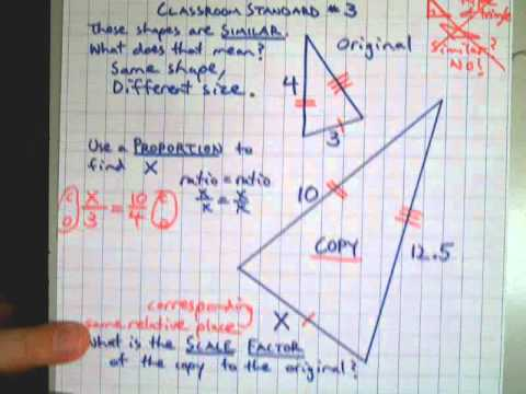 Proportions Triangles Missing Sides Scale Factors