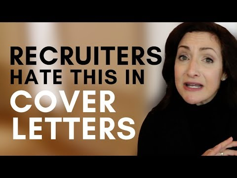 2 Things Recruiters HATE To Read On Cover Letters