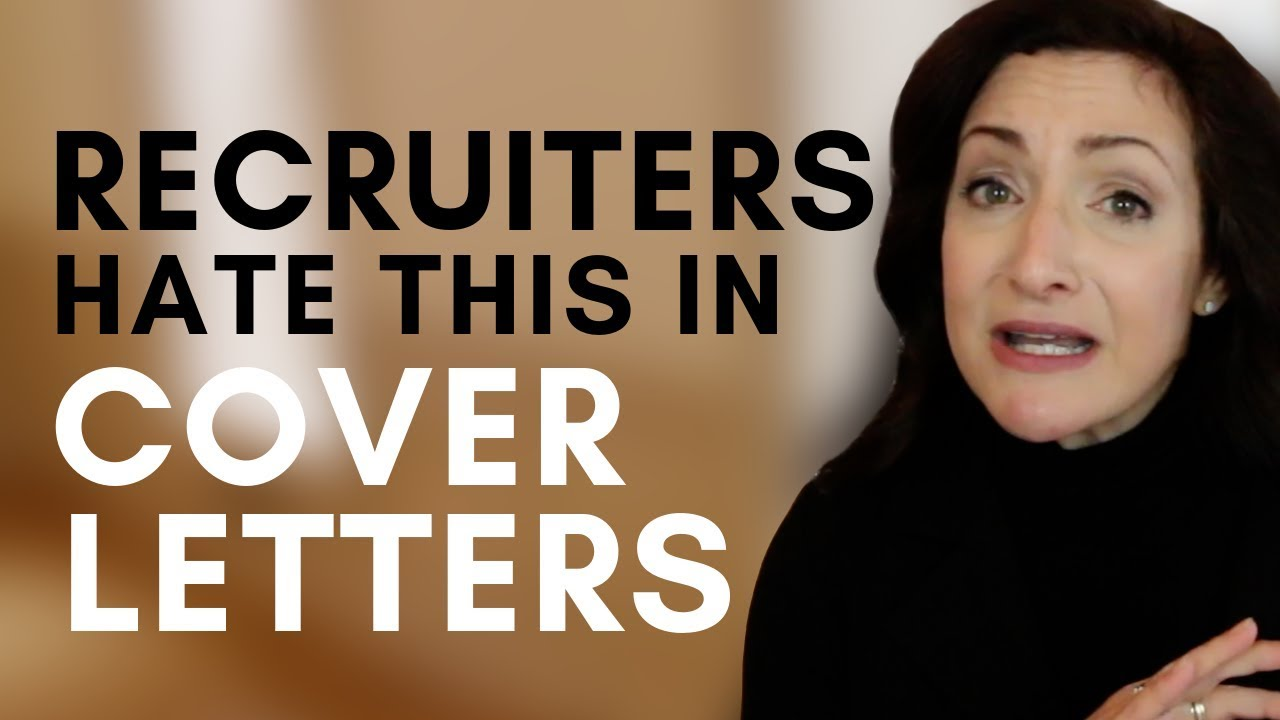 Things Recruiters Hate To Read On Cover Letters  Youtube