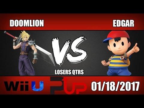Doomlion (Cloud) vs Edgar (Ness) - Wii U Losers Quarters - SOS