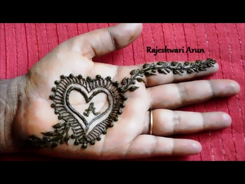 Valentine S Day Special Heart Henna Mehndi Designs For Hands