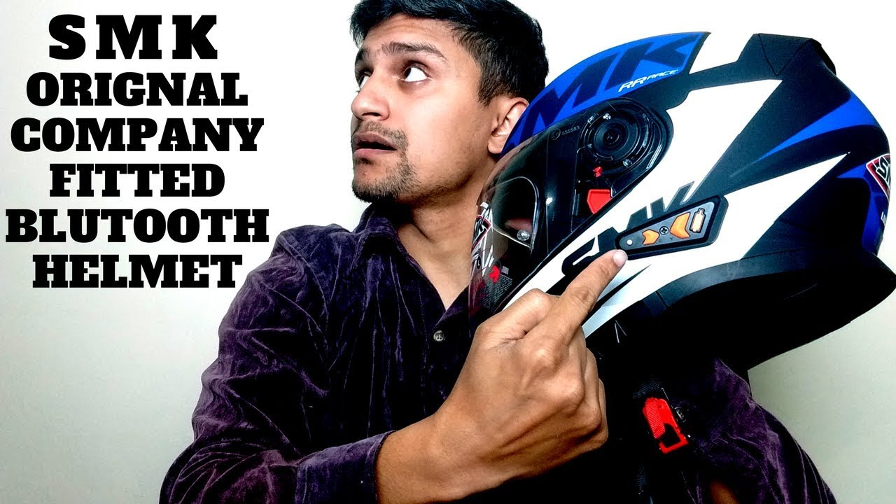 Studds Shifter Helmet Review Youtube: SMK BLUTOOTH HELMET ORIGNAL COMPANY FITTED BLUTOOTH HELMET
