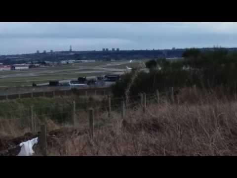 Close Up Lufthansa Departure From Aberdeen Airport