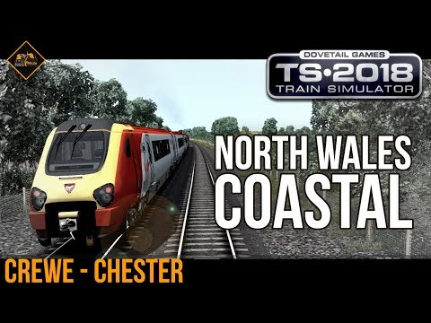 Train Simulator 2018 gameplay North Wales Coastal Route Class 221 Super Voyager part 1