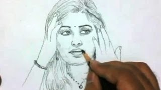 How to Draw a Beautiful Indian Girl
