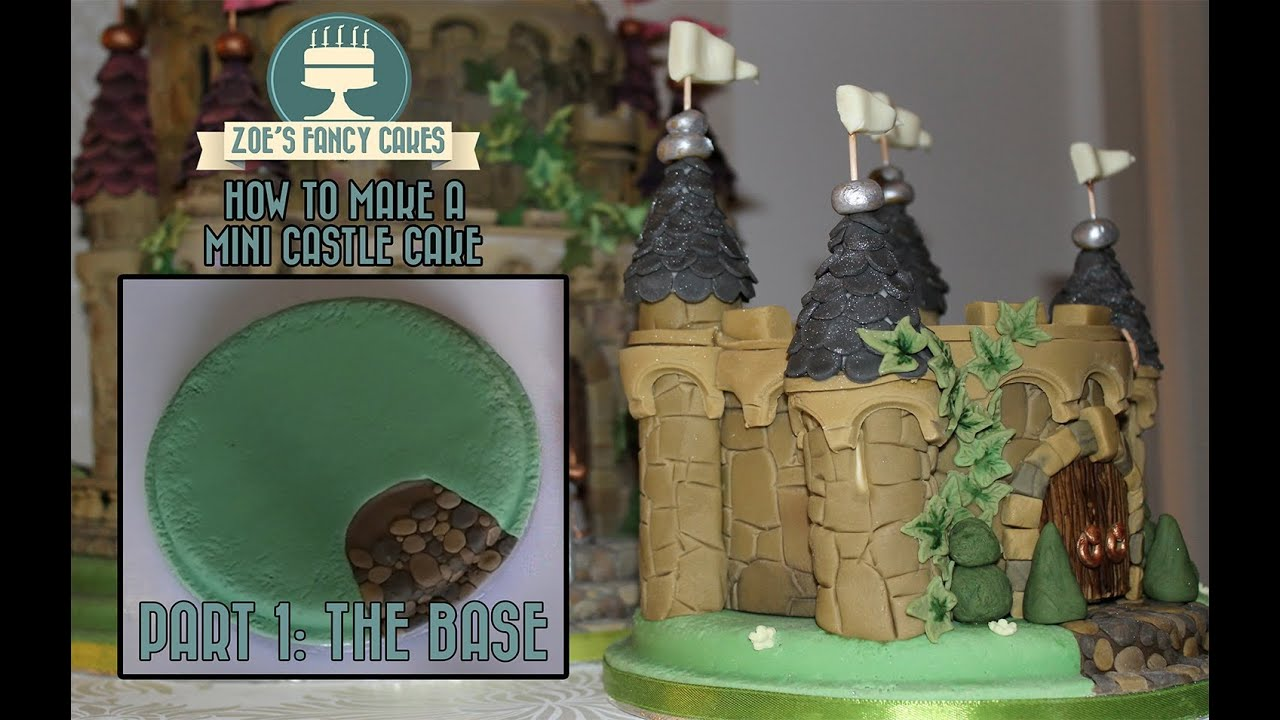 Mini Castle Cake Part 1 Making The Base How To Tutorial Zoes Fancy