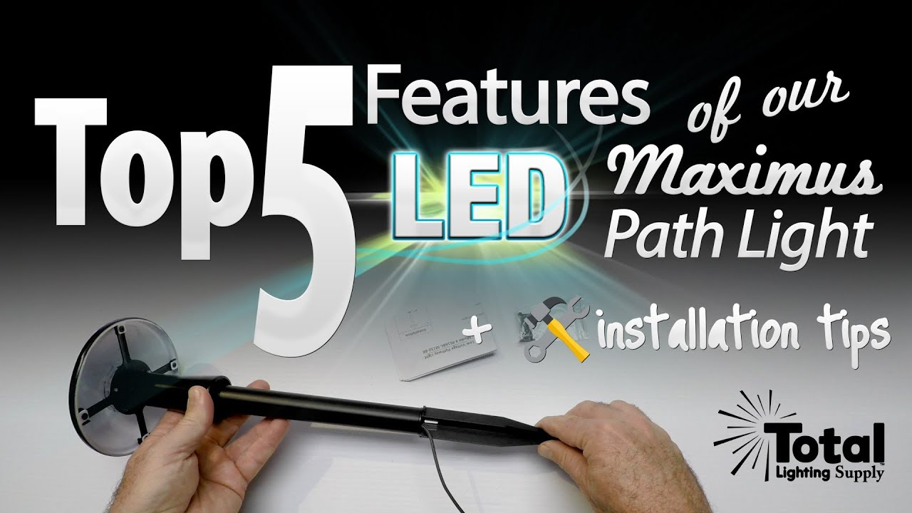 Outdoor Lighting Supply Top 5 features of our led maximus path light installation tips top 5 features of our led maximus path light installation tips by total outdoor lighting total lighting supply workwithnaturefo