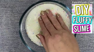 How To Make Fluffy Slime with Shaving Cream  Relaxing Satisfying Slime