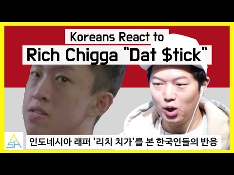 "Koreans React to Indonesian Song : Rich Chigga ""Dat Stick"" [ASHanguk]"