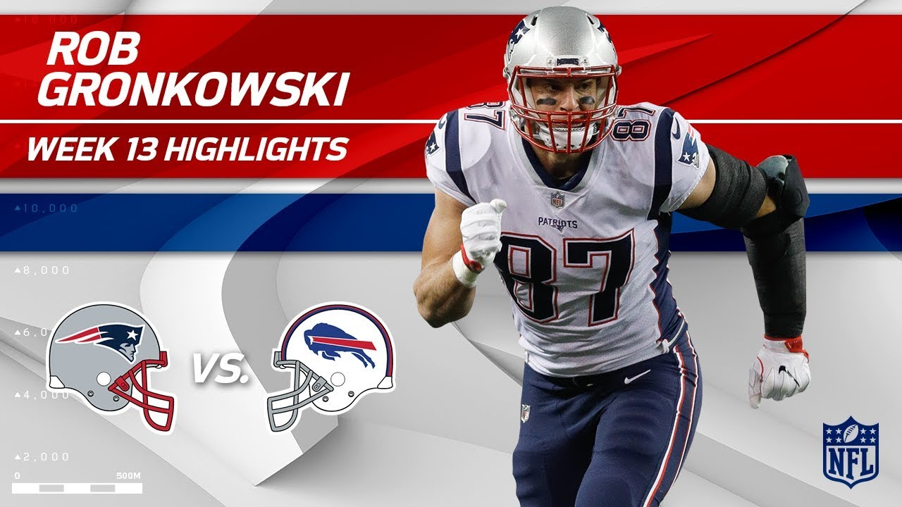 best sneakers 57243 0d965 Rob Gronkowski's 9 Grabs & 147 Yards vs. Buffalo! | Patriots vs. Bills | Wk  13 Player Highlights