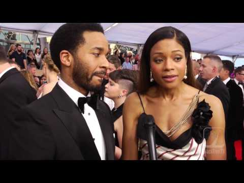 Andre Holland and Naomi Harris SAG awards Carpet