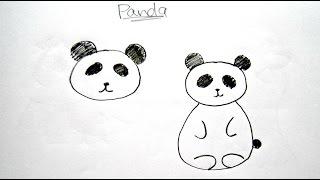 panda drawing easy cartoon sketch kawaii draw drawings beginners sketches paintingvalley laying bear things