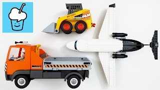 Surprise LEGO Package with playmobil dump truck bulldozer