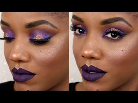 Mardi Gras Inspired Makeup Tutorial | Ellarie - YouTube