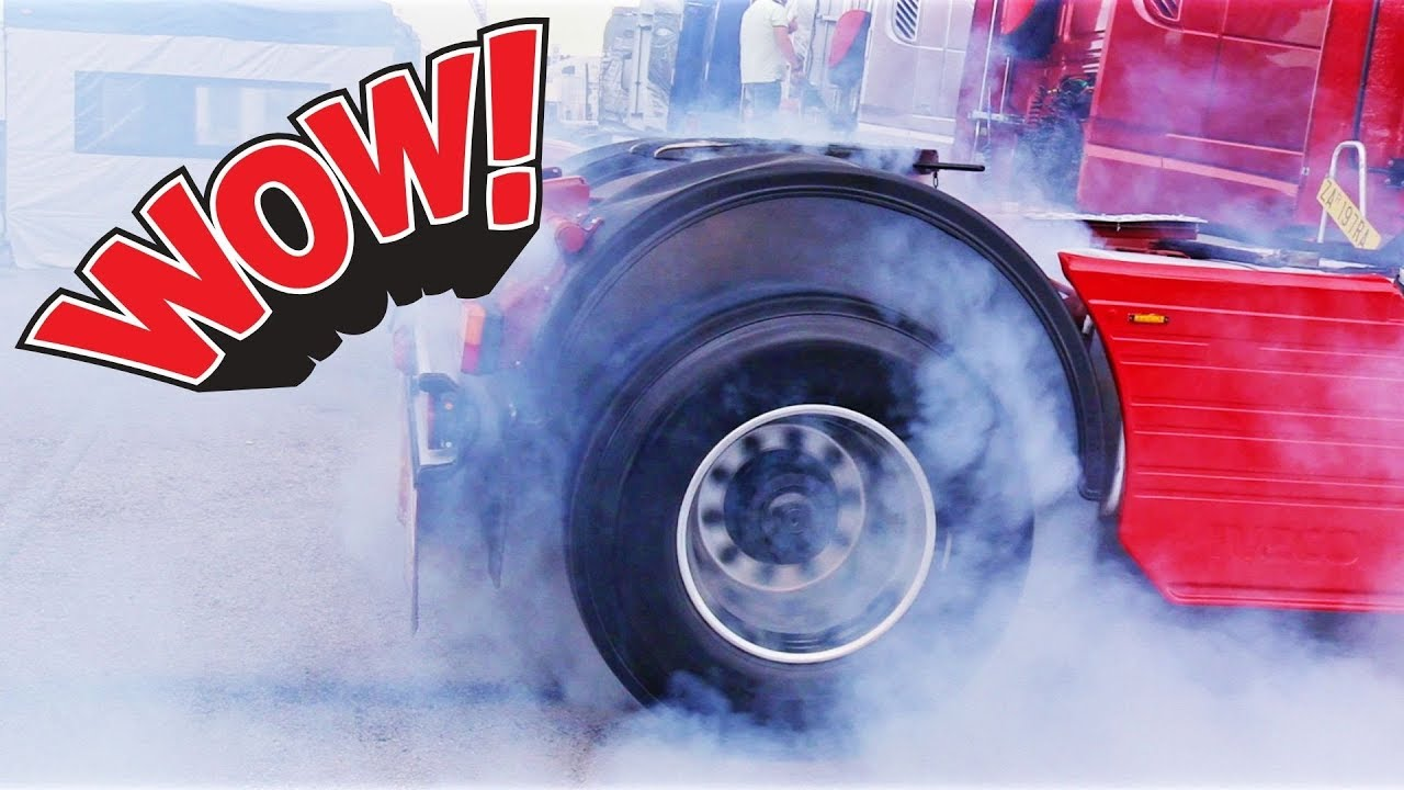 CRAZY Trucks Burnout & V8 Engine Open Pipes Exhaust Sound Compilation - Iveco, Scania, Volvo &am