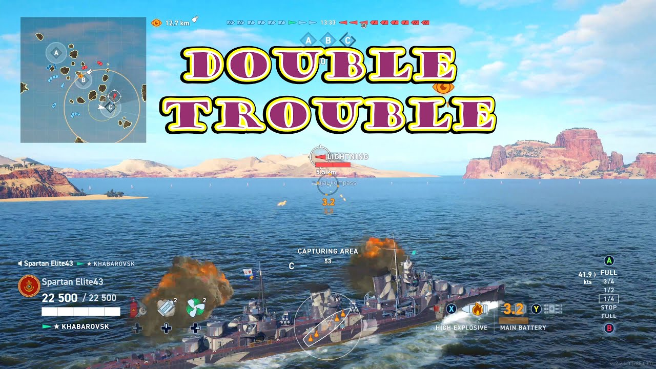 Double Trouble! (World of Warships Legends Xbox One X) 4k