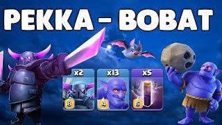 Clash of Clans - HDV12 - PEKKABOBAT (Pekka, bouliste, chauves souris)