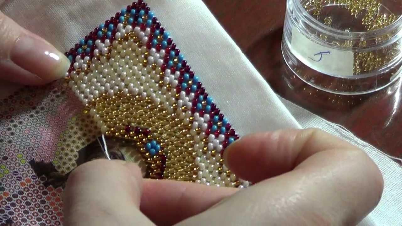 Видео уроки по вышивке бисером икон