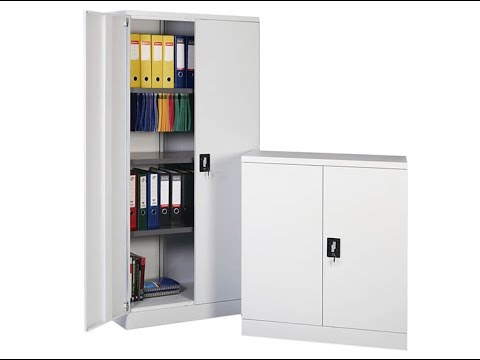 Metal Storage Cabinet With Locking Doors   YouTube