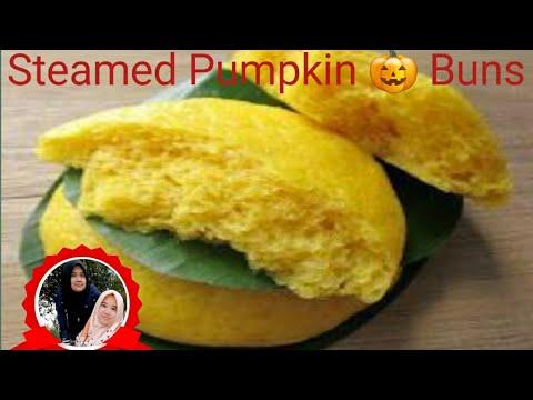 Bakpao Labu Kuning (Steamed Pumpkin Buns) #BakpaoLabuKuning #SteamedPumpkinBuns