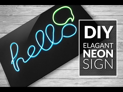 DIY  NEON SIGN -  ELEGANT multicolor - room decor