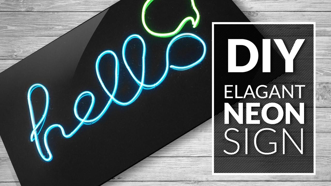 Neon A Accrocher Au Mur diy deco : comment faire un néon - marie claire