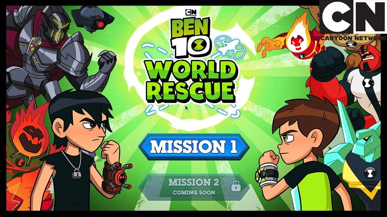 بن 10 كيف تلعب لعبة بن 10 إنقاذ العالم كرتون نتورك Youtube