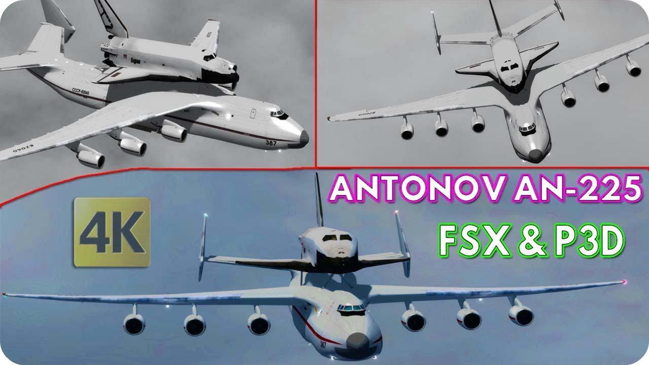 Antonov AN-225 Space Shuttle FSX & P3D Freeware Model Details HD