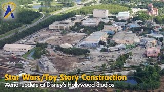 Aerial look at Star Wars Land & Toy Story Land construction at Disney's Hollywood Studios